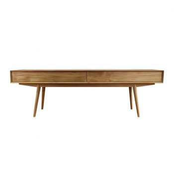 Bebe long teak console table with 2 drawers push to open and length 200 cm