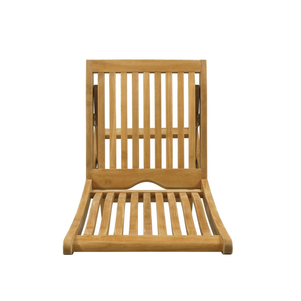 Teak natural finished folding chair for outdoor living classic