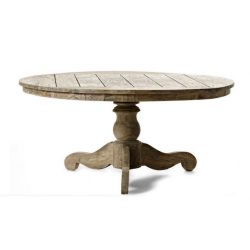 Teak table antique and rustic look big massive classic style for indoor or outdoor