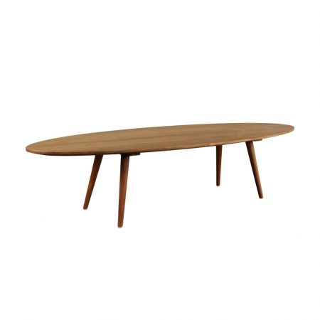Eminence teak vintage side table oval long grade A for home interior