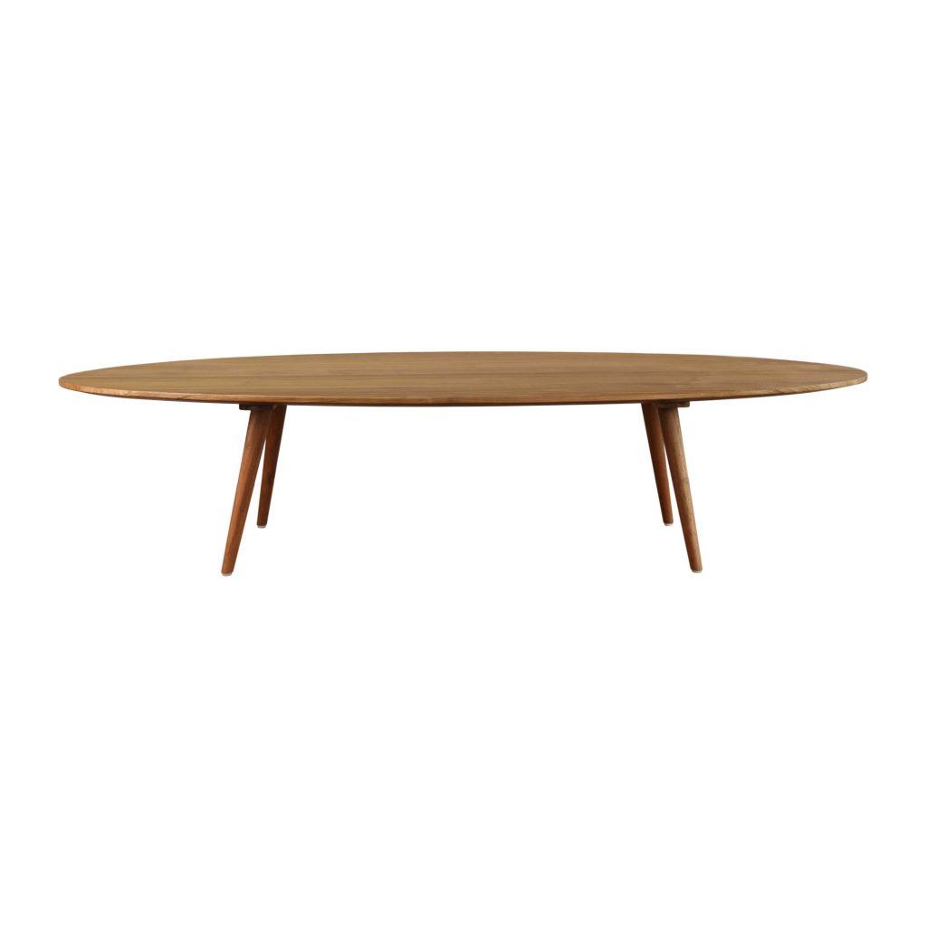 Eminence teak vintage side table oval long grade A for home interior