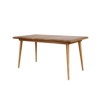 Teak danish vintage style table 150x80 Cm with 40 mm thickness frames with grade A quality of wood and oil finished