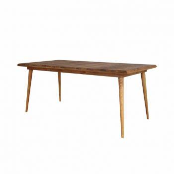 Meja makan kayu jati solid grade A untuk 6 orang model vintage cocok untuk rumah atau restoran