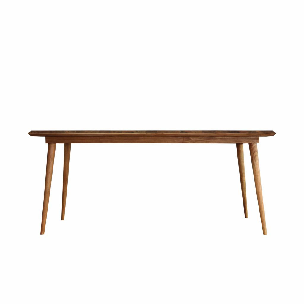 Teak danish vintage style table 180x90 Cm with 40 mm thickness frames with grade A quality of wood and oil finished