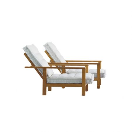 Teak grade A recline 3 position sofa for outdoor with natural finished