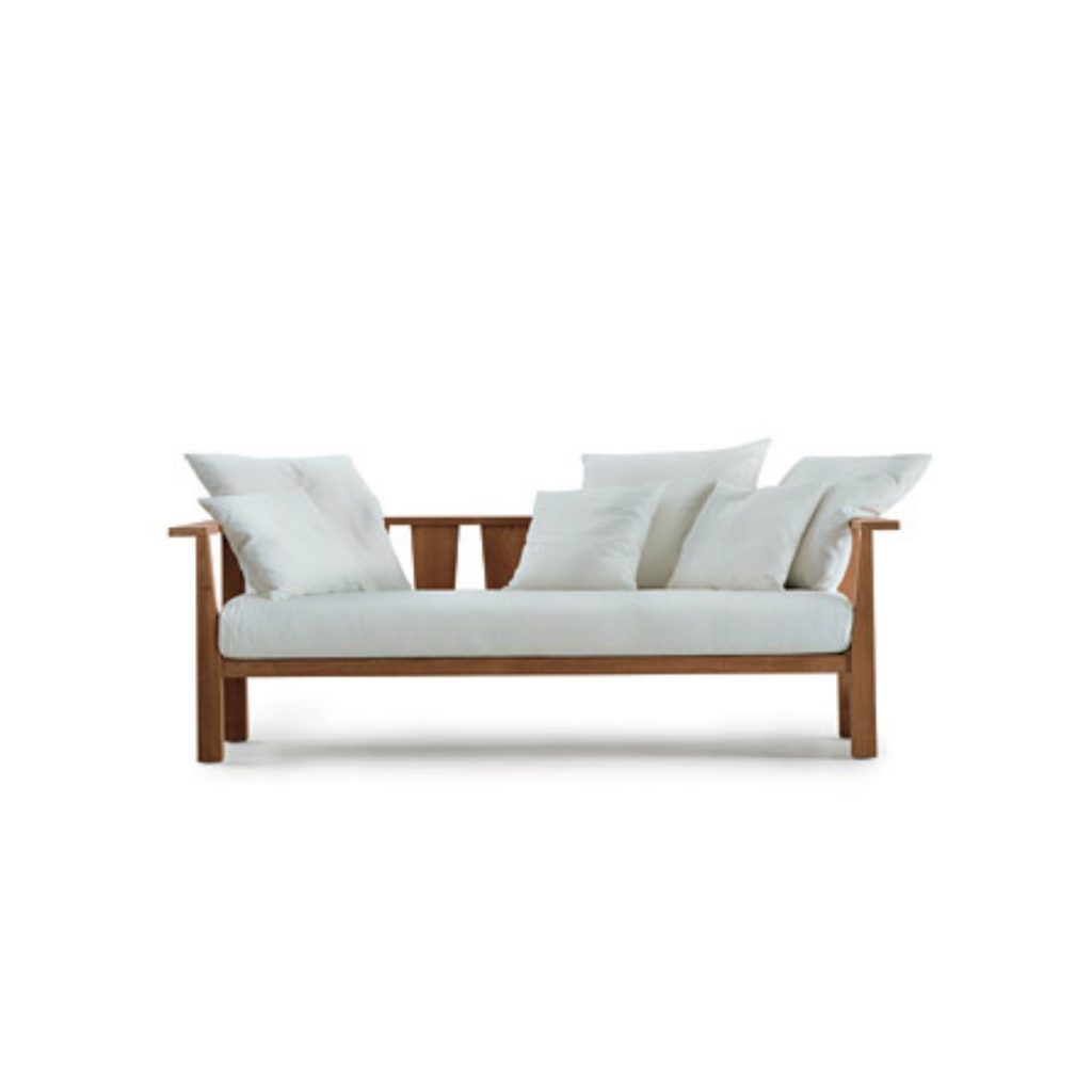 Teak grade A sofa bed for outdoor living natural finished for 3 person