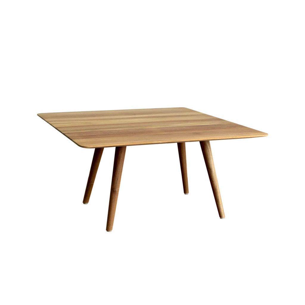 Danish vintage retro teak solid square table 90x90 cm grade A with oil finished