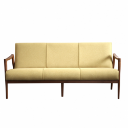Teak sofa green kiwi 3 seater custom sofa hotel project indonesia vintage design interior