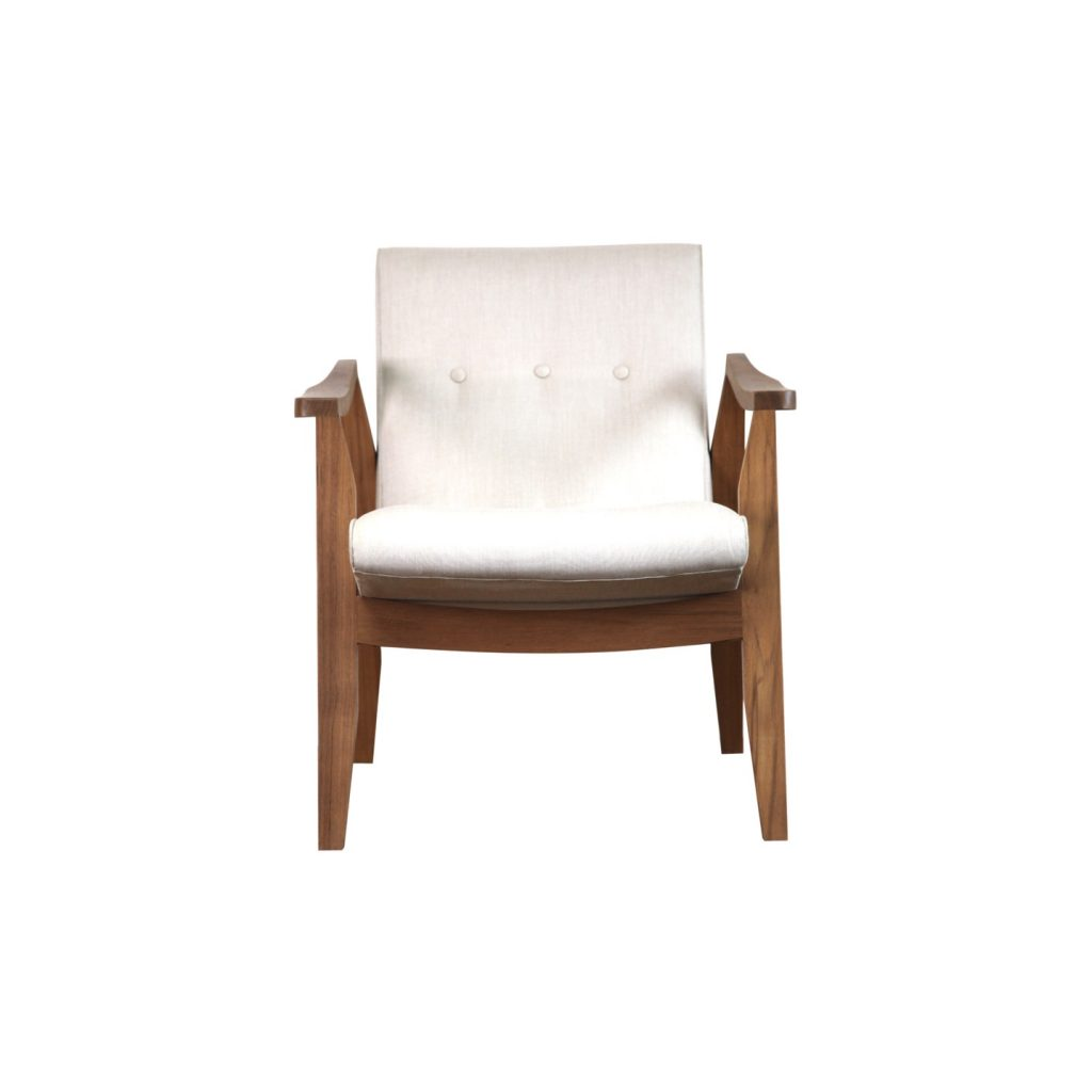Danish vintage retro teak sofa chair made from teak with oil finished comfortable back for relaxing