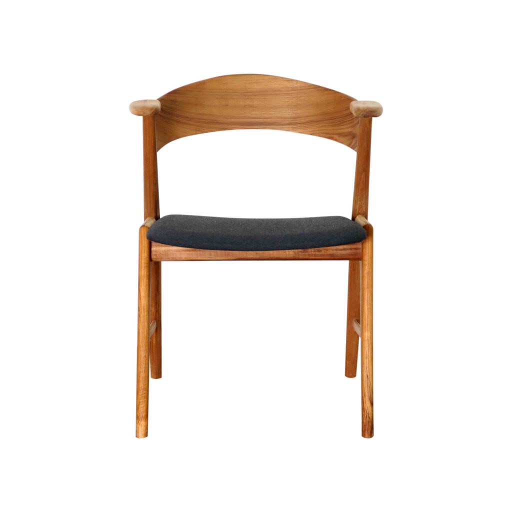 modern wooden chair front view. Grade A Teak Danish Vintage Retro Old Chair With Oil Finished For Modern House Apartment Wooden Front View G