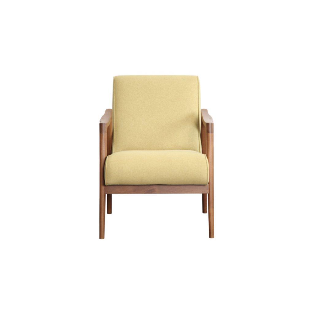Teak sofa green kiwi 1 seater custom sofa hotel project indonesia vintage design interior