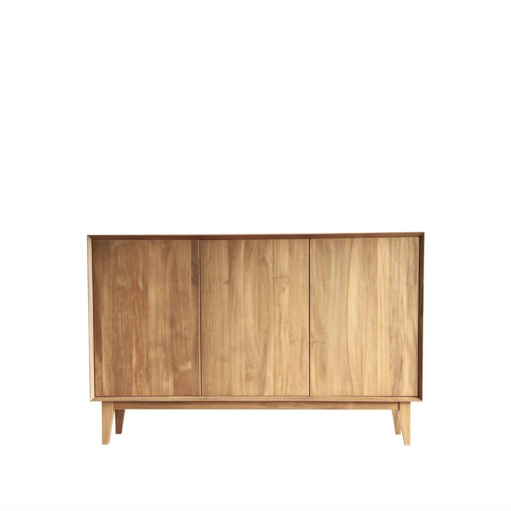 Sideboard minimalis dari jati cocok untuk aksen di rumah modern
